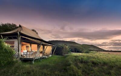 Kenya Masai Mara Kichwa Tembo superior view tent family safari