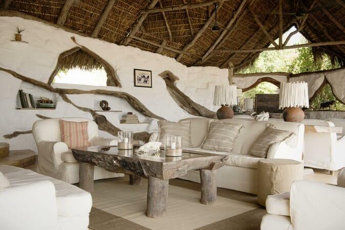 Tanzania Nyerere Sand Rivers Selous family safari lounge