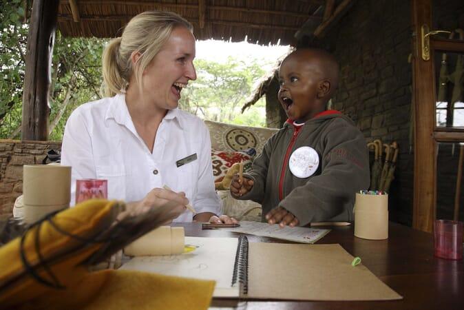 Tanzania Serengeti wild child Kleins camp family safari