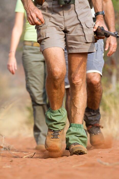 Africa walking safari guide legs family