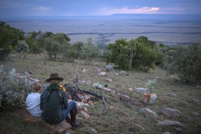 Kenya Masai Mara Bush Houses family safari