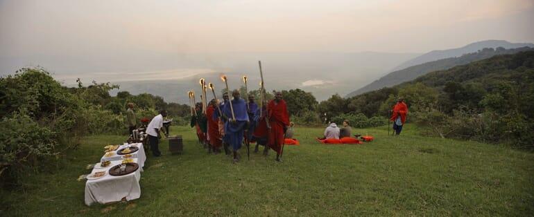 Tanzania Ngorongoro crater lodge family safari