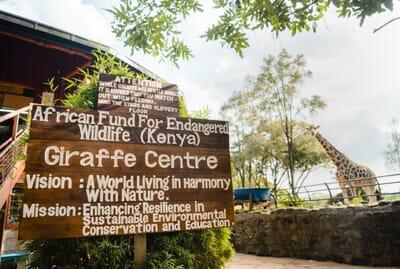 Kenya Nairobi Giraffe Manor family safari