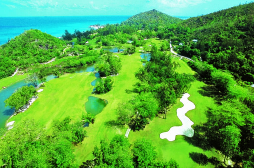 Constance Lemuria golf course aerial view