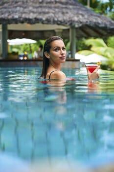 Pool bar portrait