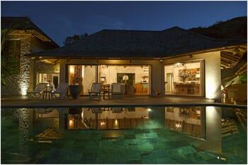 Sea Monkey Villa exterior night