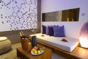 Garden suite living area