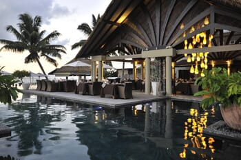 La Domaine de L'Orangeraie pool restaurant