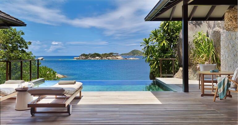 Six Senses Zil Pasyon - pool villa deck