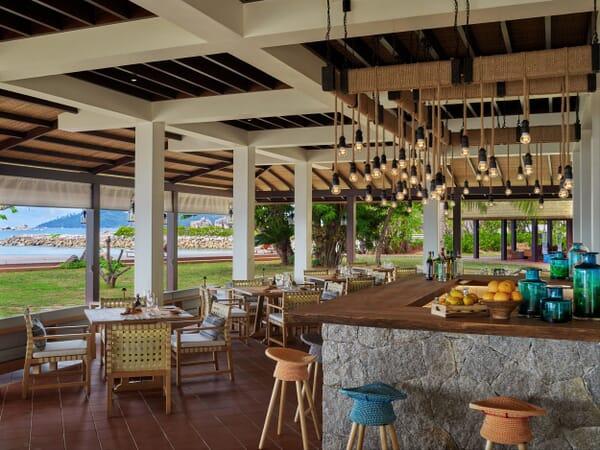 Six Senses Zil Pasyon - island cafe