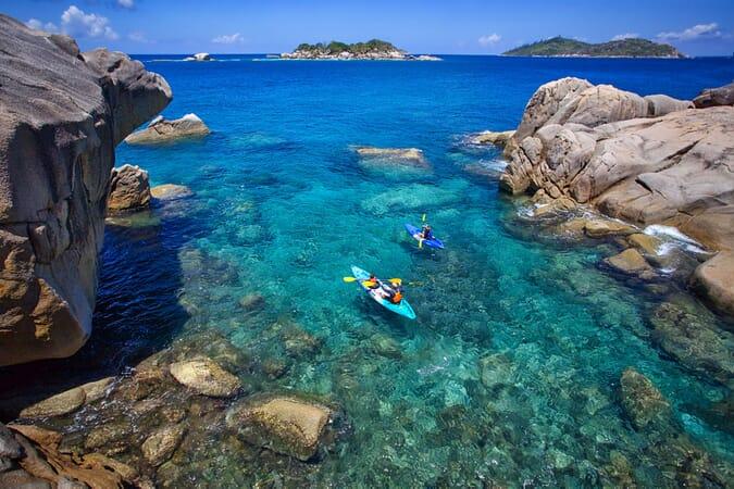 Six Senses Zil Pasyon - kayak Seychelles