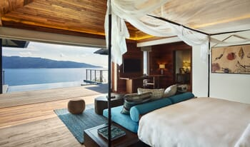 Six Senses Zil Pasyon - pool villa bedroom