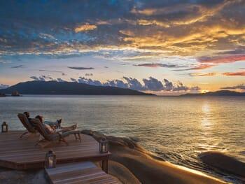 Six Senses Zil Pasyon - sunset deck