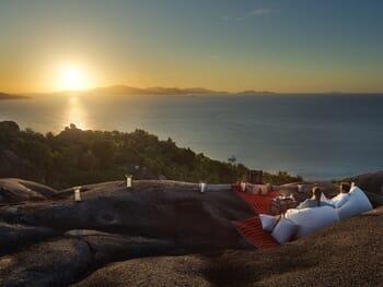sunset cocktail Seychelles