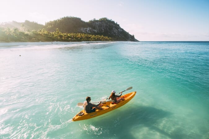 North Island seychelles kayaking