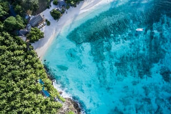 North Island Seychelles aerial