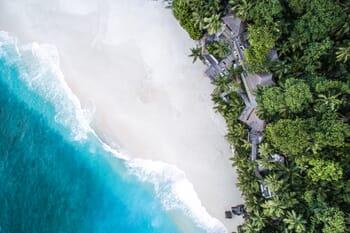 North Island aerial Seychelles family holidays