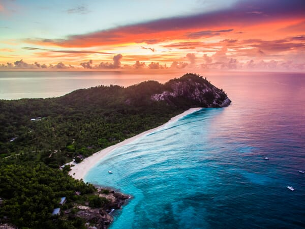 North Island seychelles sunset