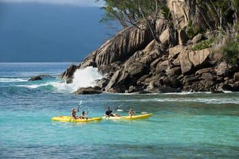 North Island Seychelles kayak