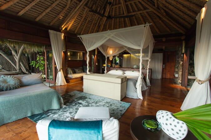 North Island Seychelles bedroom