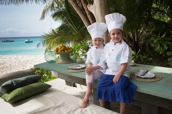 kids cooking class North Island Seychelles