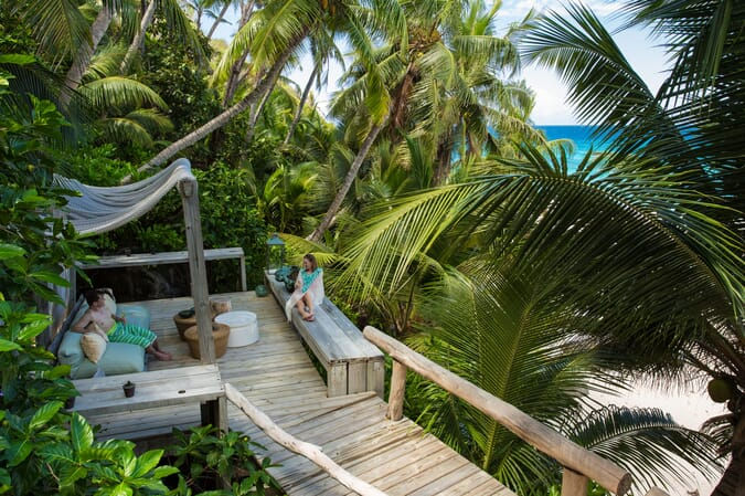 North Island Seychelles deck