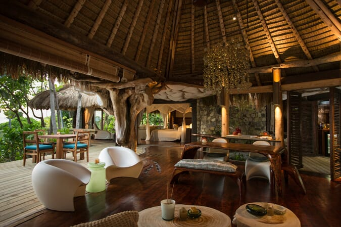 North Island Seychelles bar