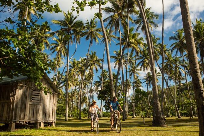 bicycle ride North Island Seychelles