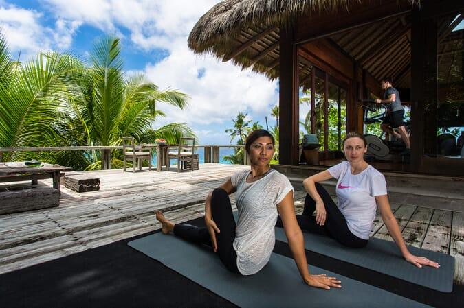 North Island Seychelles yoga