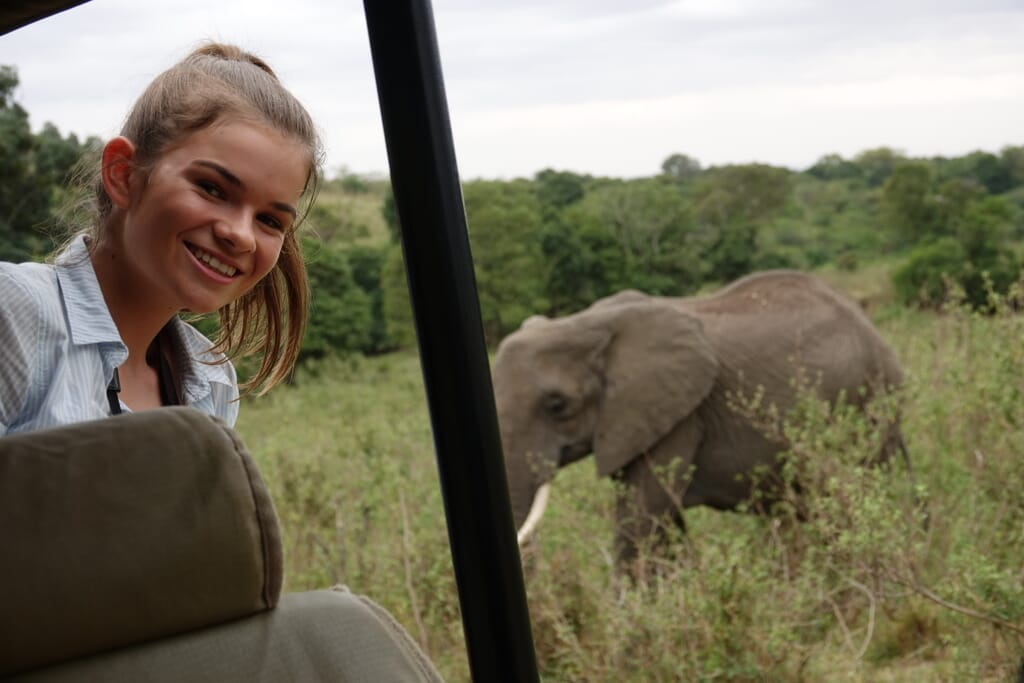 Client photo Simms Kenya family safari elephant