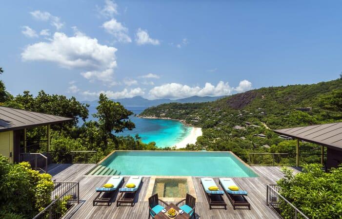 Four Seasons Resort Seychelles hilltop ocean view