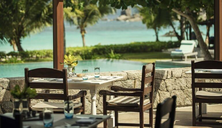 Four Seasons Resort Seychelles poolside dining