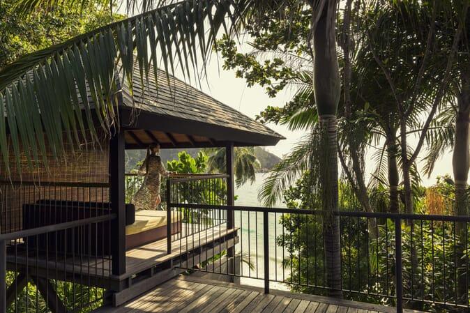 Four Seasons Resort Seychelles ocean villa daybed