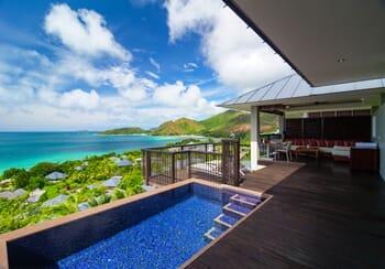 Raffles Seychelles panoramic twin deck