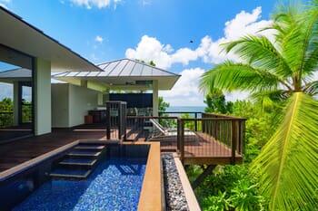 Raffles Seychelles ocean deck