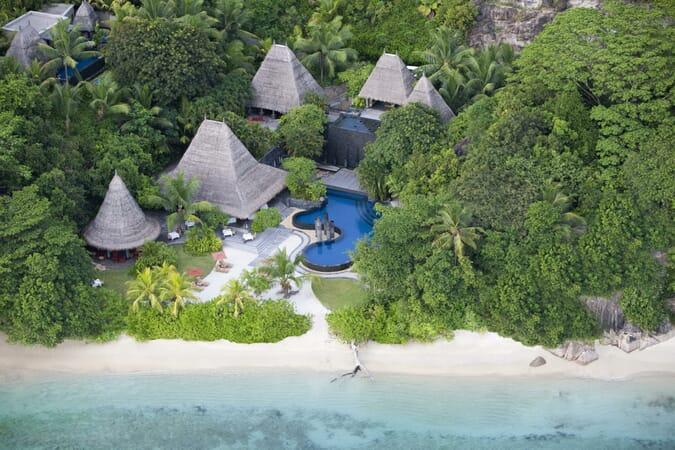 Anantara Maia Seychelles aerial pool