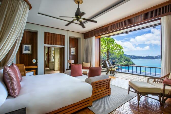 Anantara Maia Seychelles villa bedroom