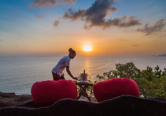 Anantara Maia Seychelles sunset