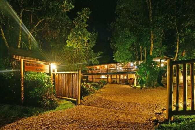 Uganda Buhoma Lodge entrance