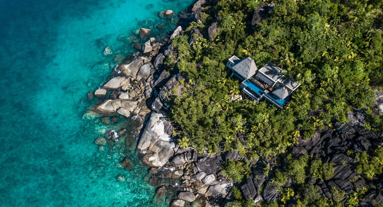 Anantara Maia Seychelles aerial villas