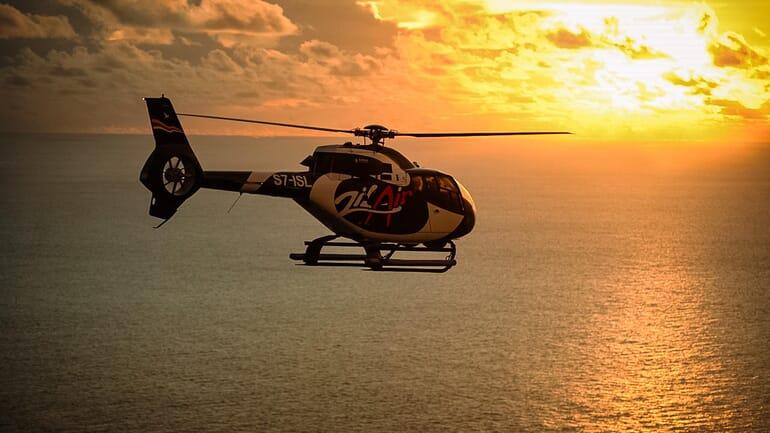 Anantara Maia Seychelles helicopter
