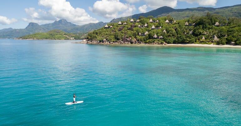 Anantara Maia Seychelles paddle boarding