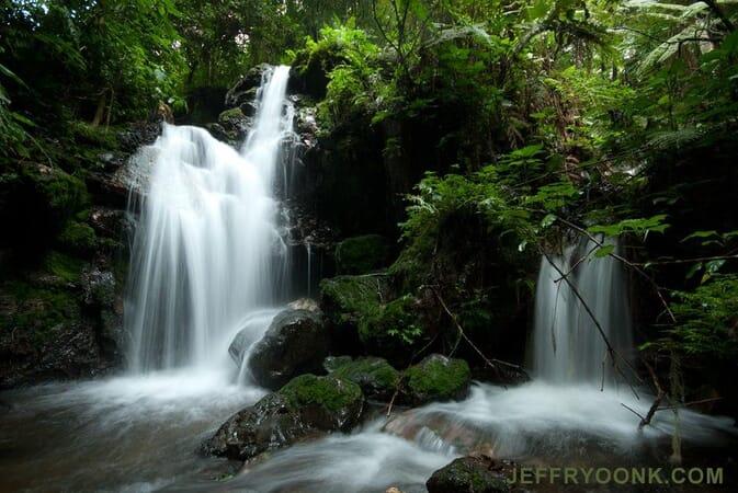 Uganda Buhoma Lodge waterfall