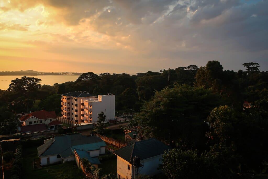 Uganda safari Entebbe lake view