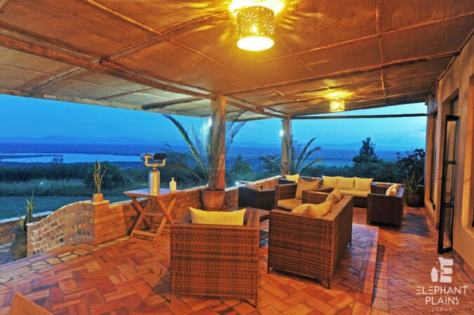 Elephant Plains Lodge terrace