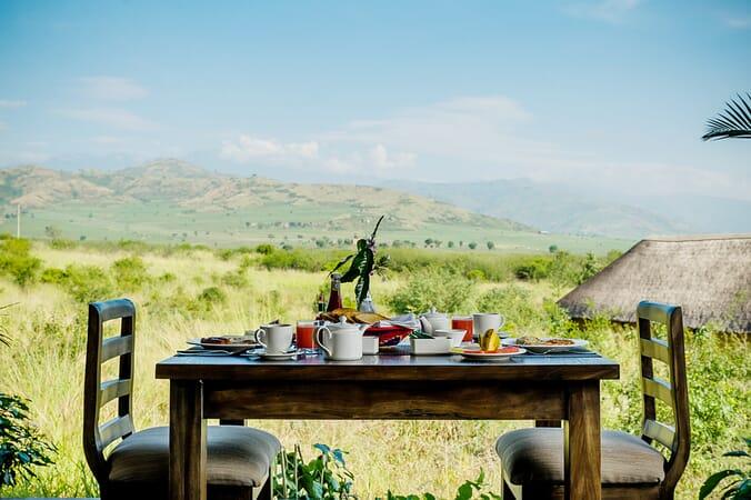 Elephant Plains Lodge terrace view