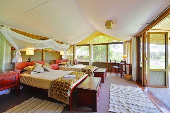 Ishasha Wilderness Camp Twin Room