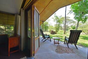 Ishasha Wilderness Camp room veranda
