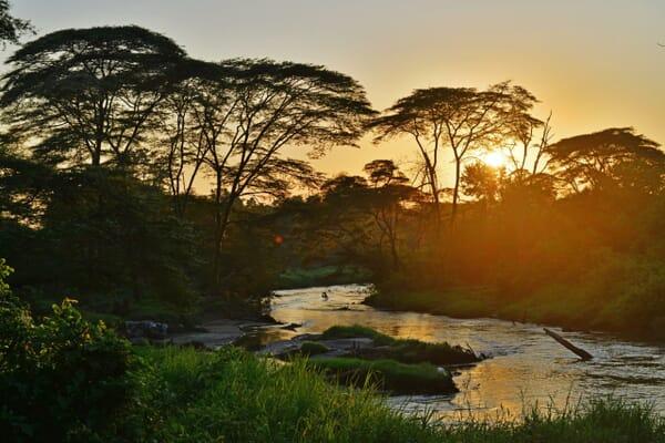 sunrise river Queen Elizabeth national park luxury