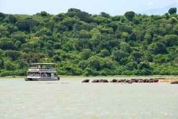 Kazinga channel boat safari